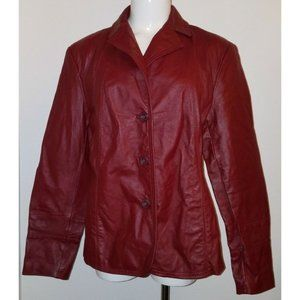 East 5th Red Genuine Leather Jacket Coat